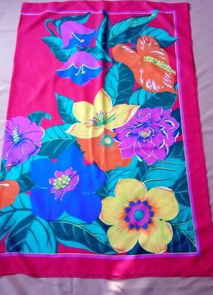 Шикарный платок, парео, 150х113 см, италия