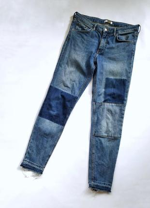 Актуальные джинсы с квадратами от h&m conscious 38