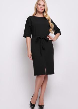 Элегантное женское деловое офисное платье размер:xl,2xl, 3xl