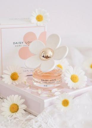 Marс jacobs daisy love парфюмир.вода миниатюра пробник 4 ml mini