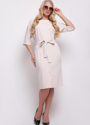 Элегантное женское деловое офисное платье размер: xl,2xl,3xl