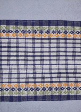 Кухонные полотенца 36х59 синие