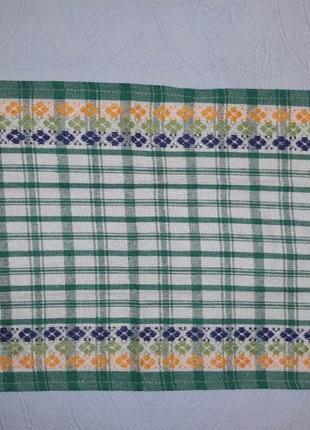 Кухонные полотенца 36х59 зеленые