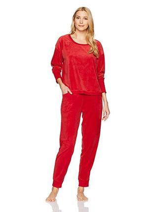 Красный велюровый костюм hue размер s-м