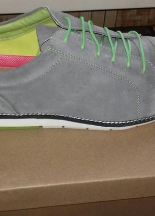 Туфли мужские замшевые maz aro р.42-43(польша) новые