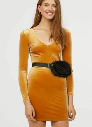 Супер яркое мини платье h&m