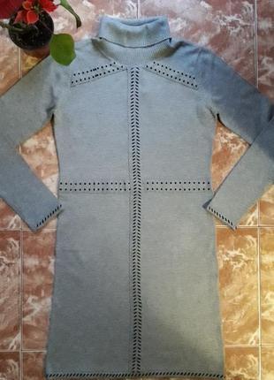 Трикотажное платье yuka ,миди, м.