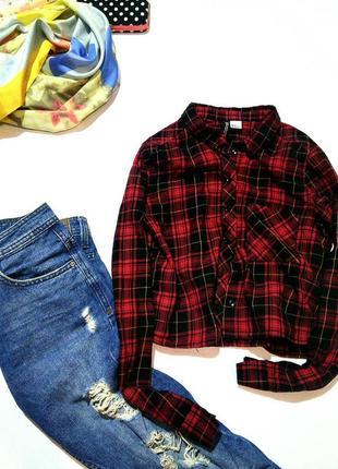 Укороченная рубашка h&m