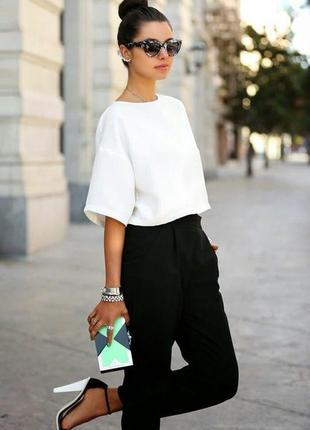 Обнова! брюки классика высокая талия зауженные со стрелами черные качество на высоких