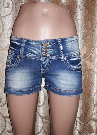 Стильные короткие женские джинсовые шорты miss cherry denim division