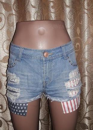 Стильные короткие женские джинсовые шорты denim co