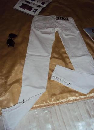 Фирменые белые  джинсы miss sixty  р 36