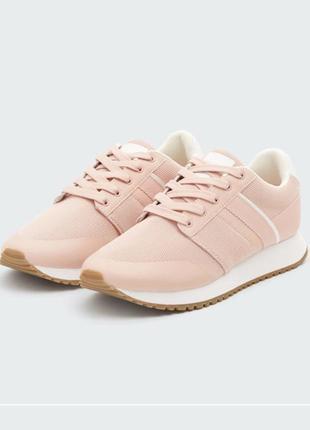 Кроссовки 36-40 розовые кеды пудровые под замш pull&bear