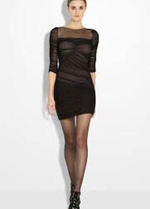 Платье в обтяжку bcbg max azria чёрное xs s оригинал