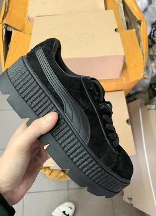 Отличные кеды puma cleated creeper suede black 36-40!