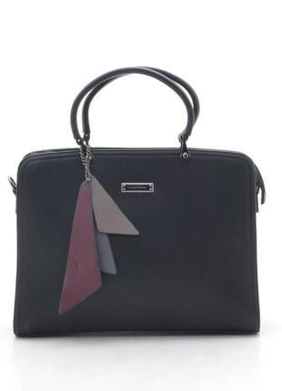 Женская стильная деловая сумка 865995 черная