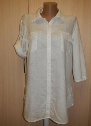 Льняная рубашка блуза tommy hilfiger р.14