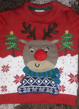 Новогодний свитер, рождественский f&f