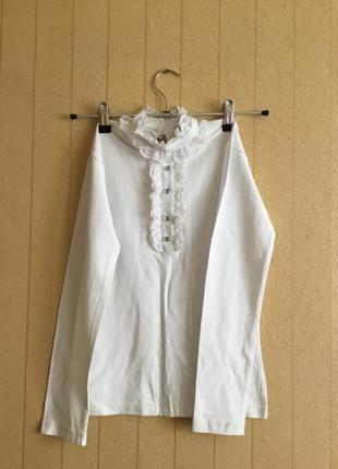 Трикотажная блузка для девочек на рост 140