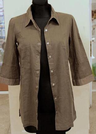 Рубашка оnly длинная туника платье-рубашка кнопки прямая хлопок легкая