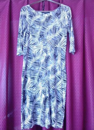 Платье от reserved с тропическим принтом