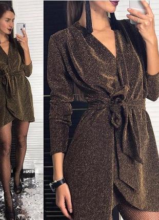 Нарядное платье из люрекса