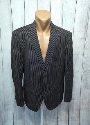 Пиджак marco mazini, 52 (l), linen, стильный, как новый!