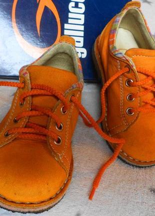 Люксовые рыжие туфли gallucci