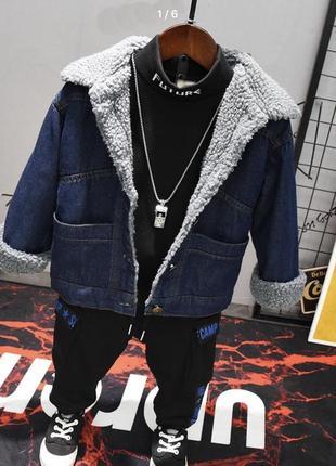 Джинсовая курточка унисекс!