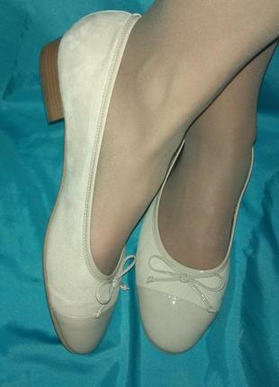 Шикарные кожаные туфли балетки franchetti bond р 42 италия