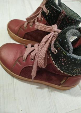 Качественные кожаные демисезонные ботинки, ортопедические