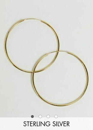 Серьги кольца золотая платина asos