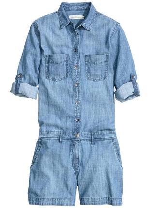 Шикарный джинсовый комбинезон h&m