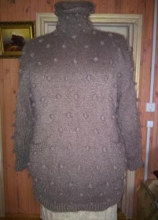 Скидка!свитер one size, супер кид мохер  италия,
