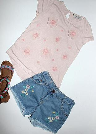 Комплект футболка и джинсовые шорты на 5-6 лет