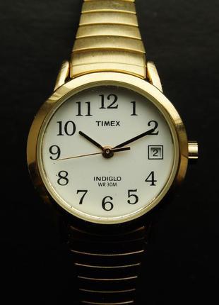 Timex часы из сша подсветка indiglo браслет twist-o-flex wr30m
