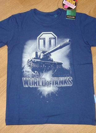 Футболка для мальчика world of tanks танки рисунок светится в темноте 140 146 152 см