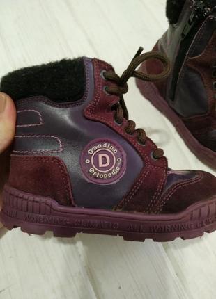 Очень теплые зимние ортопедические ботинки dandino