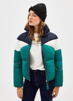 Стеганая трехцветная куртка bershka new col