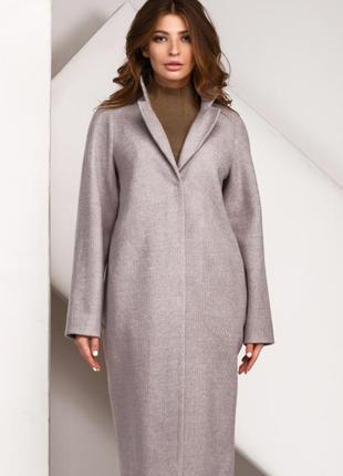 Длинное весенне,оверсайз женское пальто р-ры 42-48, 4 цвета pl-8827