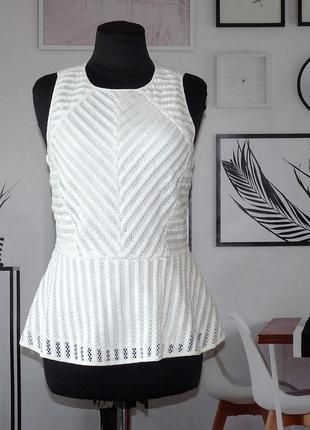 Блуза кружевная с баской h&m