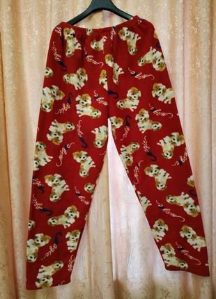Женские флисовые пижамные штаны для дома для сна красивой расцветки xl-xxl