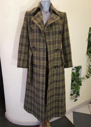 Шерстяное трендовое пальто 42-44размер