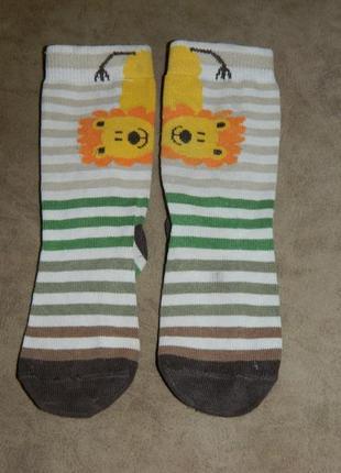 Носки детские со львом.