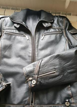 Кожаная куртка  motor jeans р. м