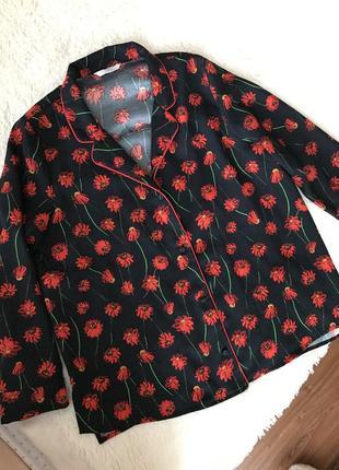 Стильная блуза рубашка в бельевом стиле от h&m размер s m l