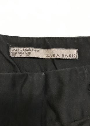 Чёрные укороченые брюки2 фото