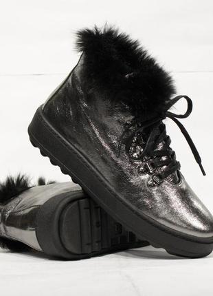 Кожаные зимние ботиночки respect, оригинал