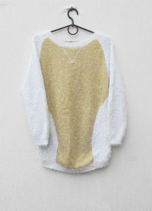 Нарядный свитер травка с длинным рукавом на молнии для беременных