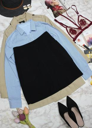 Обнова! юбка трапеция накладные карманы качество плотная
